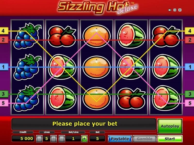 sizzling hot gratis game