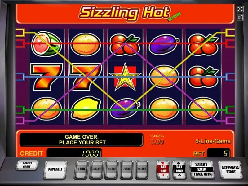 Sizzling Hot Deluxe Free Online Game